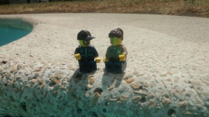 Our lego avatars, a gift from our 8-year-old friend Afonso